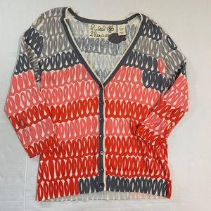 Anthropologie Field Flower Cardigan Sweater M